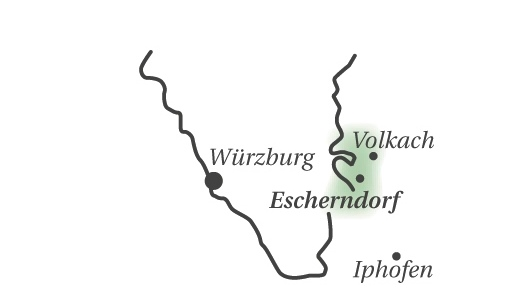 Geografische Einordnung der Region Escherndorf