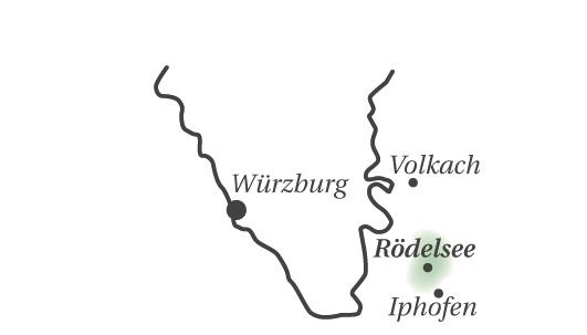 Geografische Einordnung der Region Rödelsee