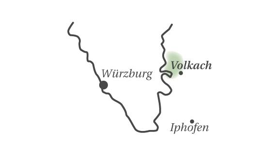 Geografische Einordnung der Region Volkach