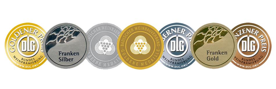 Prämierte Weine bei GWF Frankenwein