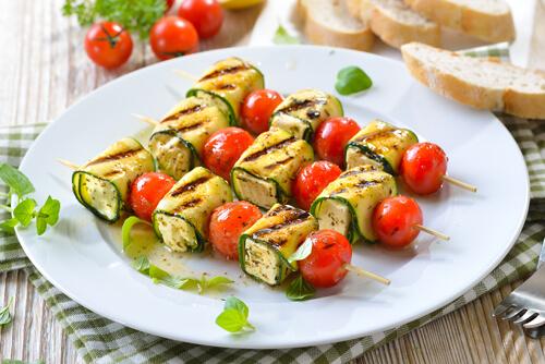 Zucchini Feta Wraps