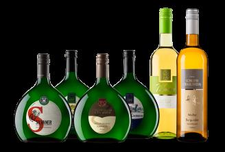 Weißweinpaket mit Bacchus, Grauburgunder, Weißburgunder und Silvaner