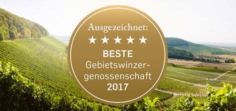 Beste Gebietswinzergenossenschaft in Deutschland