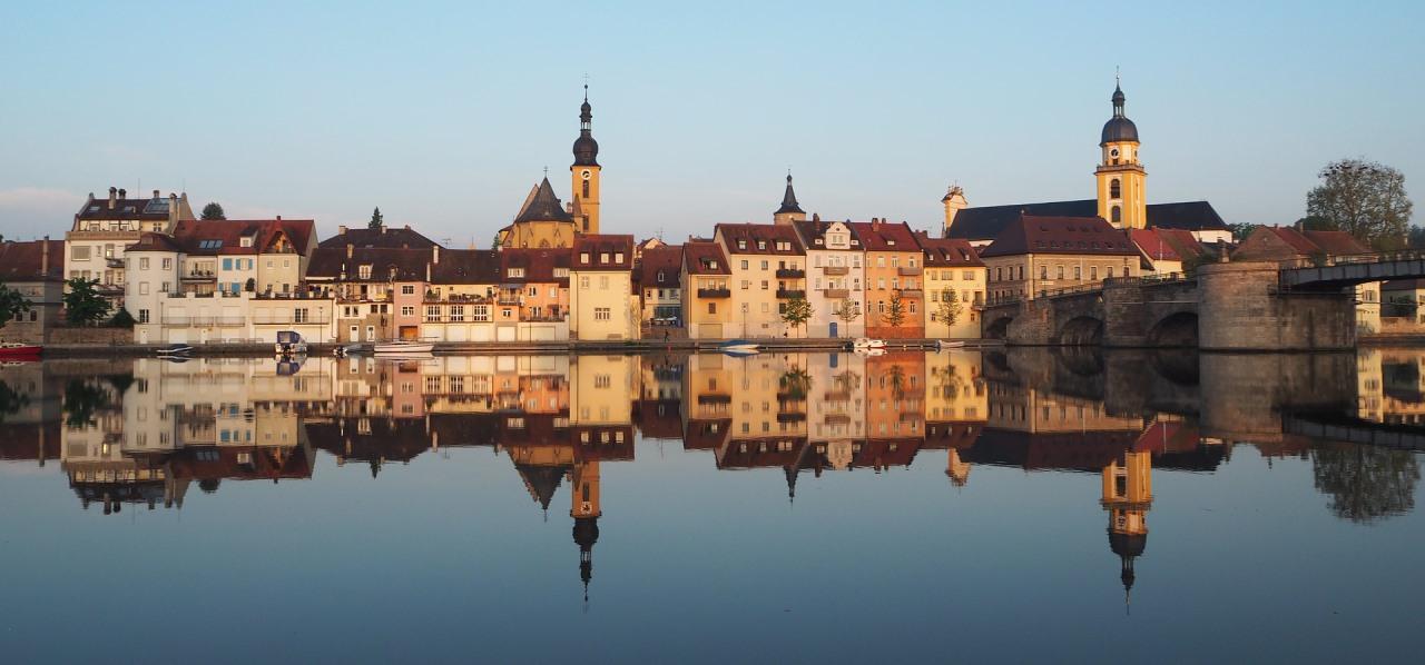 Blick auf die Altstadt von Kitzingen am Main